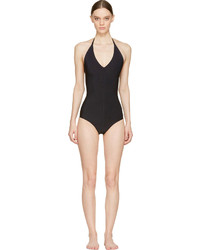 Rick Owens Black Halter Swimsuit