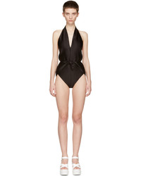 Miu Miu Black Plunging Neckline Swimsuit