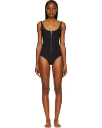 Lisa Marie Fernandez Black Zip Front Jasmine Swimsuit