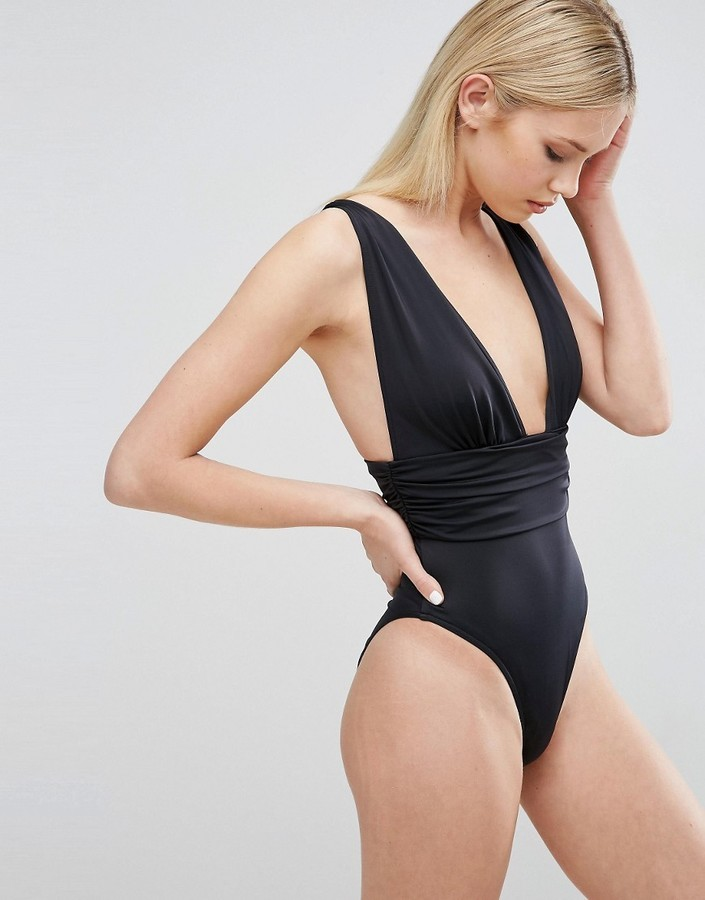 watch get new offer discounts $32, Asos Gathered Waist Band Swimsuit