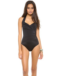 Norma Kamali Halter Mio One Piece Swimsuit