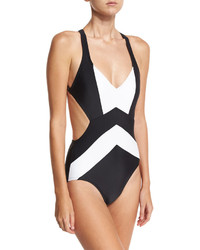 MICHAEL Michael Kors Michl Michl Kors Cross Back Colorblock One Piece Swimsuit