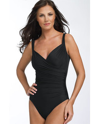 Miraclesuit Sanibel Underwire One Piece Swimsuit Black 10