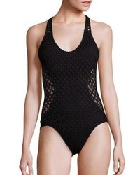 Milly One Piece Netting Martinique Swimsuit