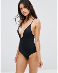 French Connection Plunge Swimsuit With Strap Back Detail