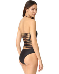 Cushnie et Ochs Strapless One Piece Swimsuit