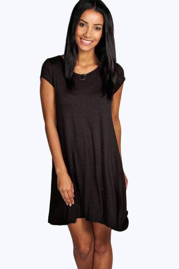 Jersey kleid eng schwarz