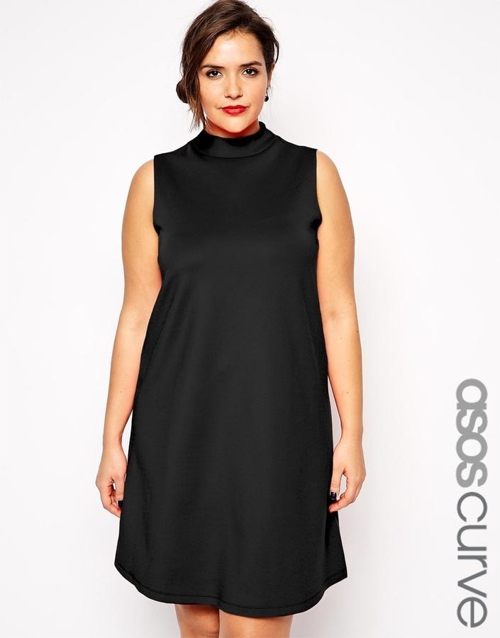 d70cb0c9939c6 Asos Curve Scuba Swing Dress With High Neck, $60 | Asos | Lookastic.com