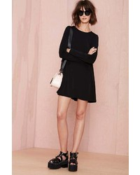 Nasty Gal Full Swing Dress Black