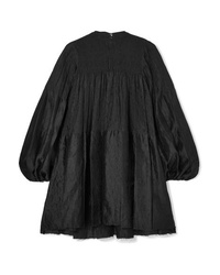 MARQUES ALMEIDA Oversized Ruched Crinkled Crepon Jacquard Mini Dress