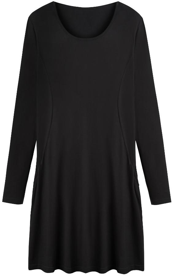 f8c761c82688 ... Black Swing Dresses Plain Jersey Swing Dress Tall ...