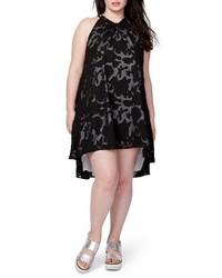 Plus size rachel jacqueline burnout swing dress medium 3723030
