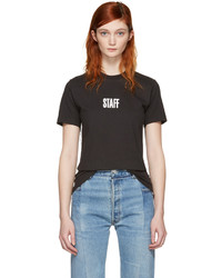 Vetements Black Hanes Edition Quick Made T Shirt