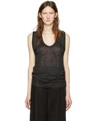 Isabel Marant Black Linen Maik T Shirt