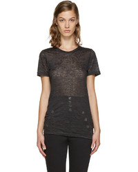 Isabel Marant Black Madras T Shirt