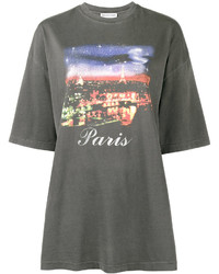 Balenciaga Paris Motif Oversized T Shirt