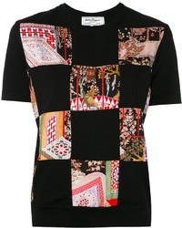 Salvatore Ferragamo Patchwork Jersey T Shirt
