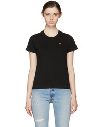 Comme des Garcons Play Black Small Heart T Shirt