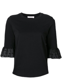 See by Chloe See By Chlo Ruffled Sleeved T Shirt