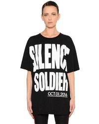 Haider Ackermann Silence Soldier Cotton Jersey T Shirt