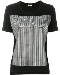 Fendi Silver Logo T Shirt