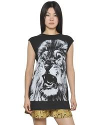 Stella McCartney Sleeveless Cotton Jersey Lion T Shirt