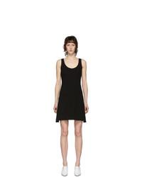 Helmut Lang Black Ponte Tank Dress