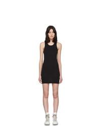 Rick Owens DRKSHDW Black Rib Tank Short Dress