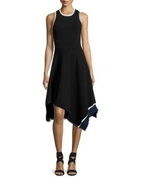 Derek Lam 10 Crosby Crew Neck Asymmetrical Hem Tank Dress