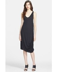Draped jersey tank dress medium 60463