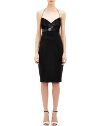 Narciso Rodriguez Sequined Camisole Dress Black