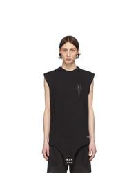 Rick Owens Black Champion Edition Sleeveless T Shirt