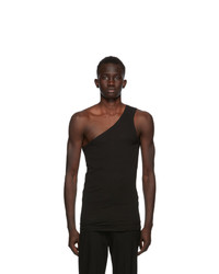 Ann Demeulemeester Black God Of Wild One Shoulder Tank Top