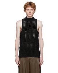 Situationist Black Knit Turtleneck Tank Top