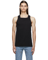 Givenchy Black Slim Fit Square Collar Tank Top