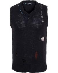 Raf Simons Distressed Knit Tank Top