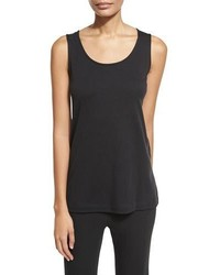 Joan Vass Scoop Neck Cotton Interlock Tunictank