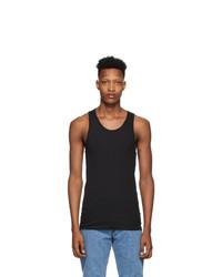 Calvin Klein Underwear Three Pack Black Cotton Tank Top