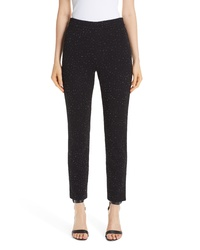 St. John Collection Blister Knit Metallic Jacquard Pants