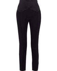 Car March Satin Paneled Crepe Tapered Pants