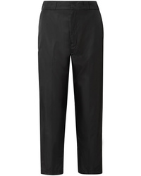 Prada Cropped Taffeta Straight Leg Pants