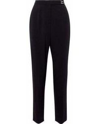 Lanvin Embellished Wool Blend Twill Tapered Pants