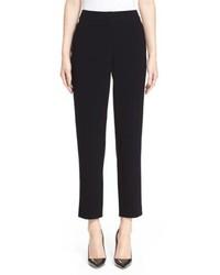 St. John Collection Emma Crop Crepe Marocain Pants