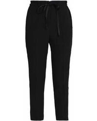 Iris Ink Graham Cropped Crepe Tapered Pants