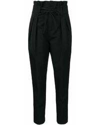 IRO Lace Up Waist Tapered Trousers