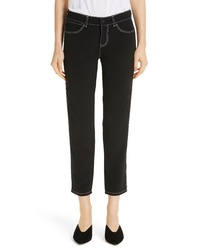 Lafayette 148 New York Mercer Topstitch Crop Pants