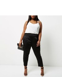 River Island Plus Black Tapered Pants