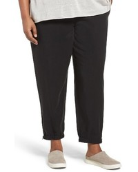 Eileen Fisher Plus Size Tencel Twill Tapered Ankle Pants