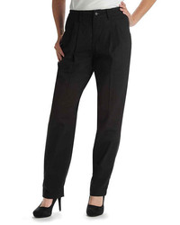 Lee Side Elastic Straight Leg Twill Pants