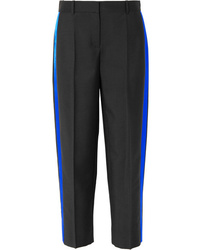 Givenchy Striped Mohair And Wool Blend Straight Leg Pants
